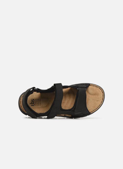 Sandales et nu-pieds TBS Strapss Noir vue gauche