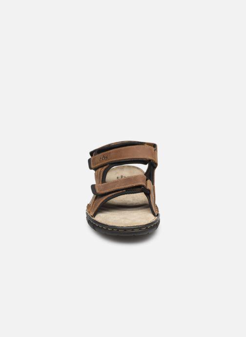 Sandalen TBS Strapss braun schuhe getragen