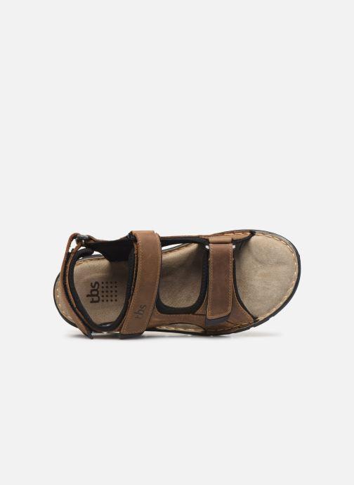 Sandalen TBS Strapss braun ansicht von links