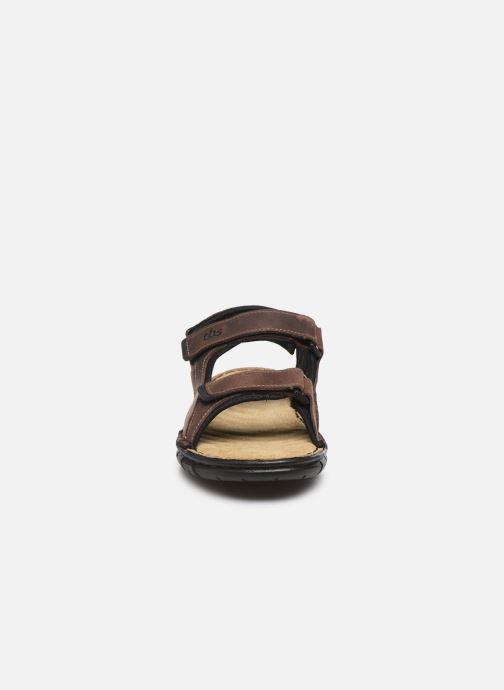 Sandali e scarpe aperte TBS Strapss Marrone modello indossato
