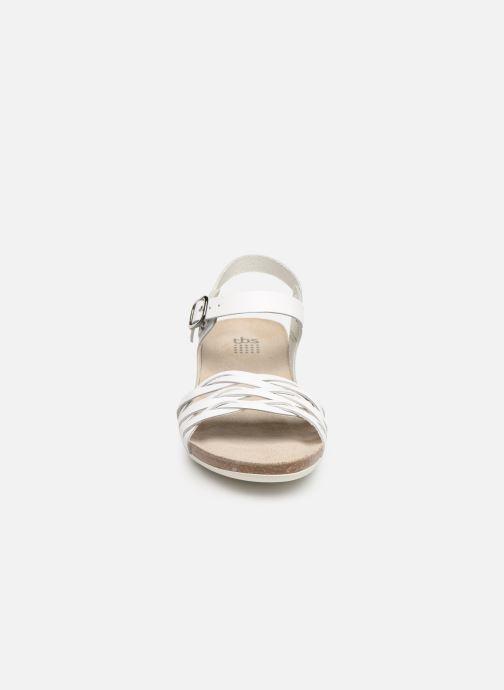Sandales et nu-pieds TBS Mojarra Blanc vue portées chaussures