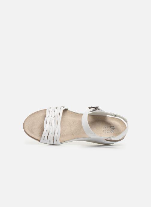 Sandales et nu-pieds TBS Mojarra Blanc vue gauche