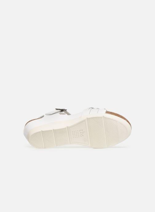 Sandales et nu-pieds TBS Mojarra Blanc vue haut