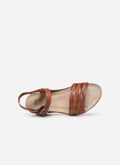 Sandales et nu-pieds TBS Mojarra Marron vue gauche