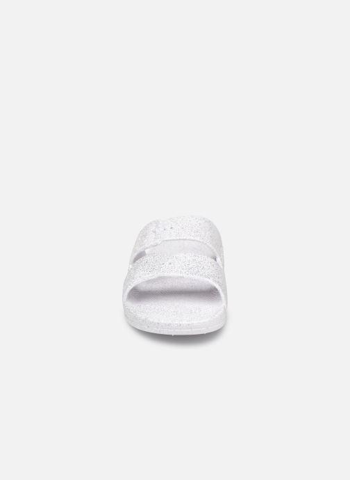 Mules et sabots Freedom Moses Glitter W Blanc vue portées chaussures