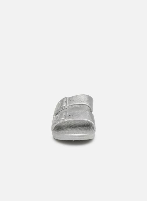 Mules et sabots MOSES Metallic W Argent vue portées chaussures