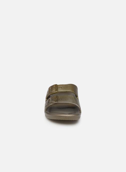 Mules et sabots MOSES Metallic W Vert vue portées chaussures