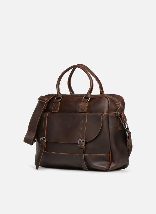 Herrentaschen Aperture Antoine braun schuhe getragen