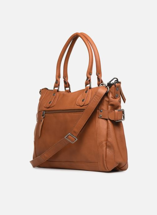 Handbags Sabrina Camille_C Brown view from the right