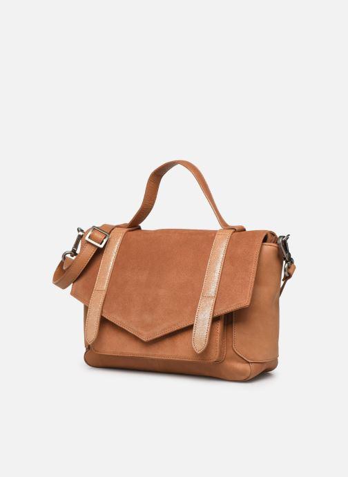 Handtaschen Sabrina Caroline braun schuhe getragen
