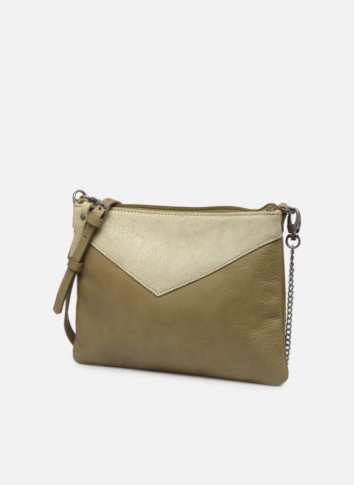 Handtaschen Sabrina Evelyne grün schuhe getragen