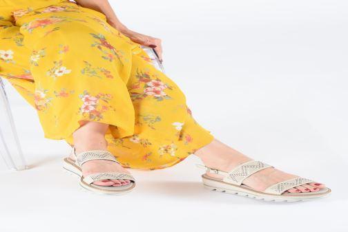 Sandales et nu-pieds Callaghan LONG BEACH Blanc vue bas / vue portée sac