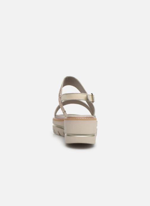 Sandales et nu-pieds Callaghan LONG BEACH Blanc vue droite