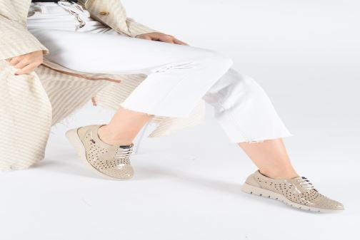 Chaussures à lacets Callaghan Haman 2 Beige vue bas / vue portée sac