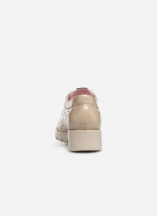 Zapatos con cordones Callaghan Haman 2 Beige vista lateral derecha