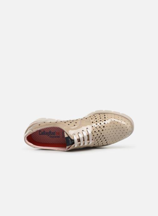 Zapatos con cordones Callaghan Haman 2 Beige vista lateral izquierda