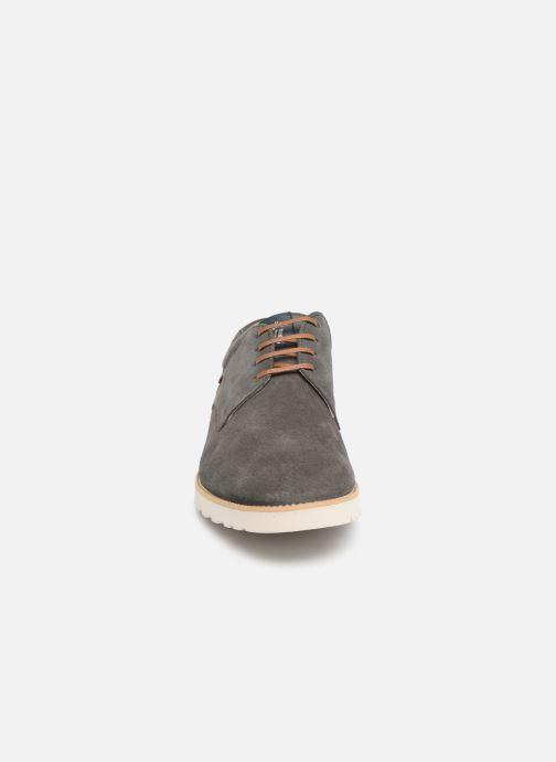 Schnürschuhe Callaghan Meer grau schuhe getragen