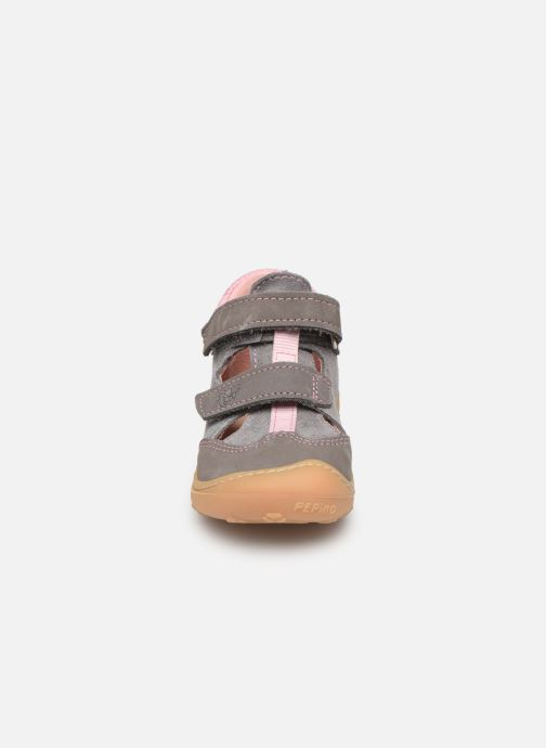 Chaussures à scratch Pepino Ebi Gris vue portées chaussures