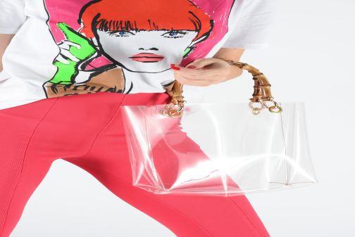 Sacs à main Arron PVC NATURAL BAMBOO Incolore vue bas / vue portée sac