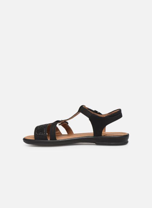 Sandales et nu-pieds Ricosta Bella Noir vue face