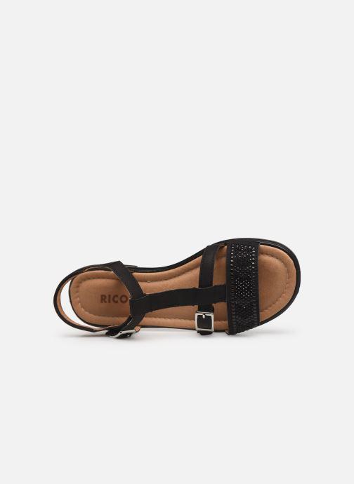 Sandales et nu-pieds Ricosta Bella Noir vue gauche