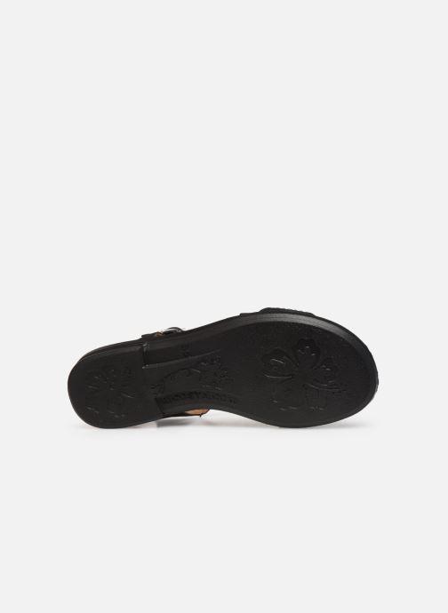 Sandales et nu-pieds Ricosta Bella Noir vue haut