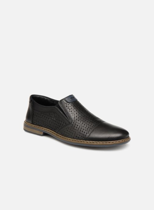 Loafers Rieker Ewan 13496 Black detailed view/ Pair view