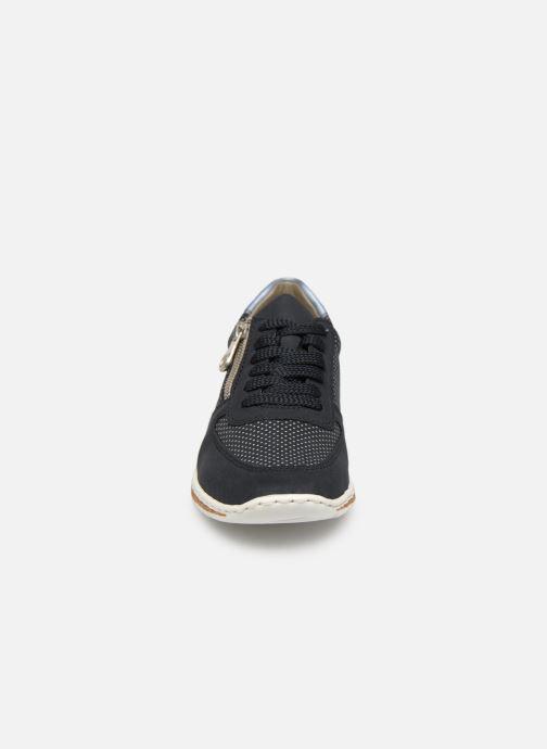 Sneaker Rieker Vanda N5121 blau schuhe getragen