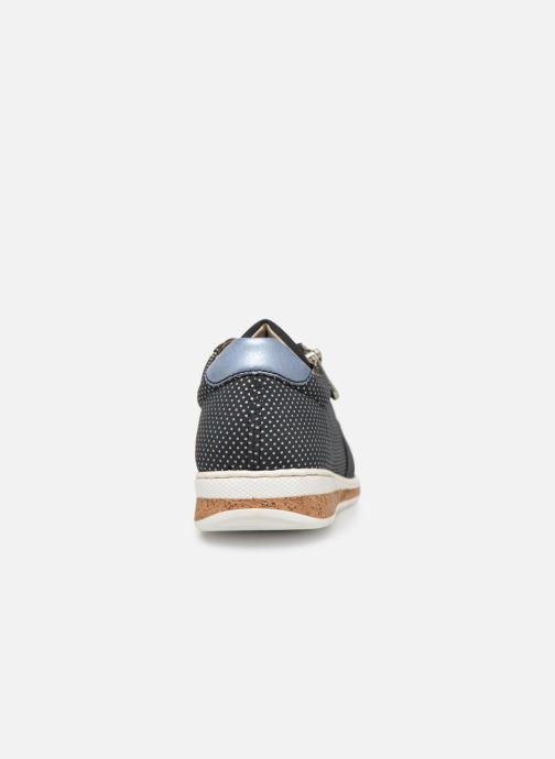 Sneaker Rieker Vanda N5121 blau ansicht von rechts