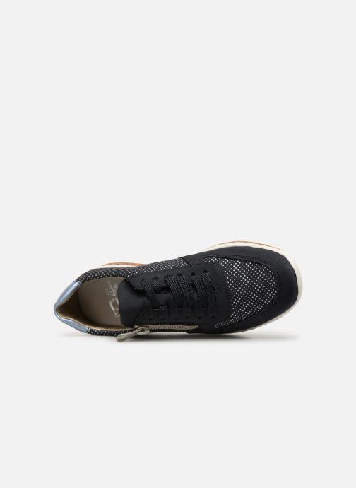 Sneaker Rieker Vanda N5121 blau ansicht von links