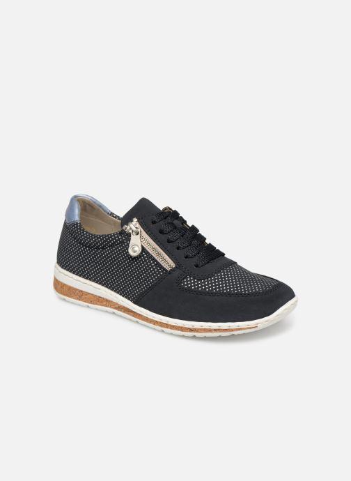 Sneakers Rieker Vanda N5121 Blå detaljerad bild på paret