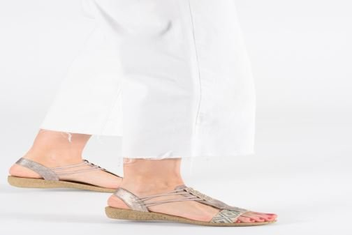 Sandals Rieker Meivy 61662 Beige view from underneath / model view