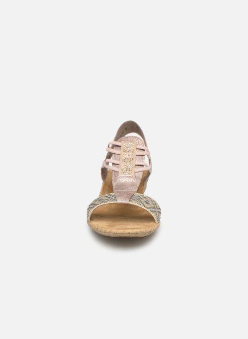 Sandales et nu-pieds Rieker Meivy 61662 Beige vue portées chaussures