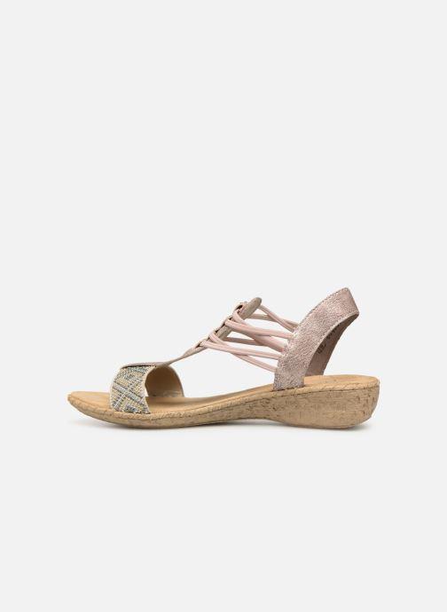 Sandales et nu-pieds Rieker Meivy 61662 Beige vue face