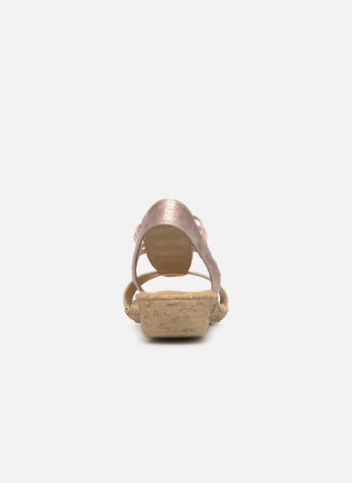 Sandales et nu-pieds Rieker Meivy 61662 Beige vue droite