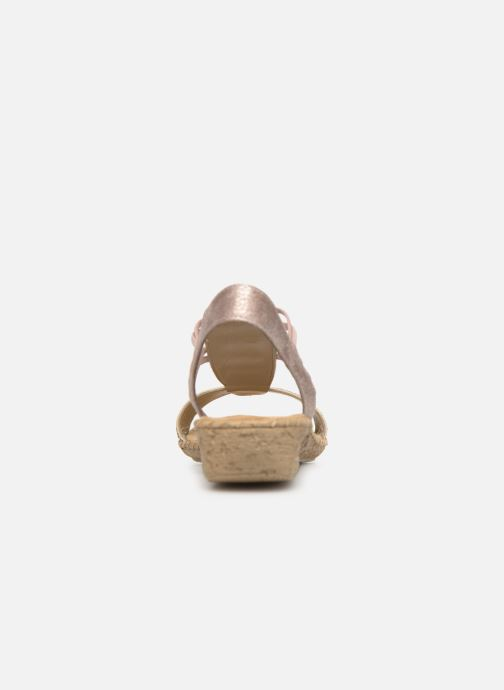 Sandals Rieker Meivy 61662 Beige view from the right