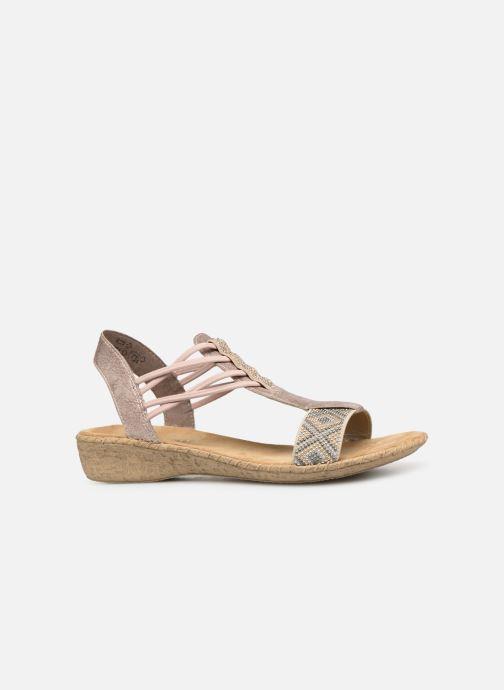 Sandales et nu-pieds Rieker Meivy 61662 Beige vue derrière