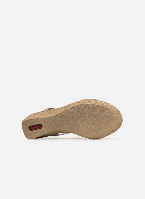 Sandales et nu-pieds Rieker Meivy 61662 Beige vue haut