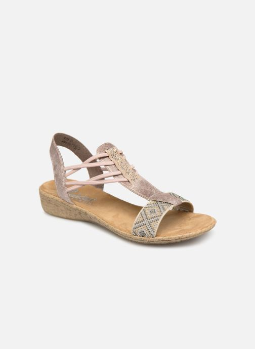 Sandals Rieker Meivy 61662 Beige detailed view/ Pair view