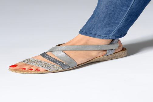 Sandals Rieker Mirana 61663 Grey view from underneath / model view