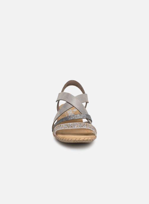 Sandales et nu-pieds Rieker Mirana 61663 Gris vue portées chaussures