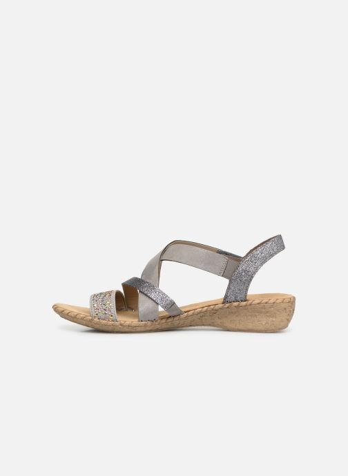 Sandals Rieker Mirana 61663 Grey front view
