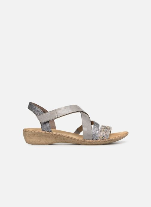 Sandals Rieker Mirana 61663 Grey back view