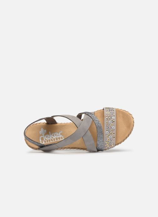 Sandals Rieker Mirana 61663 Grey view from the left