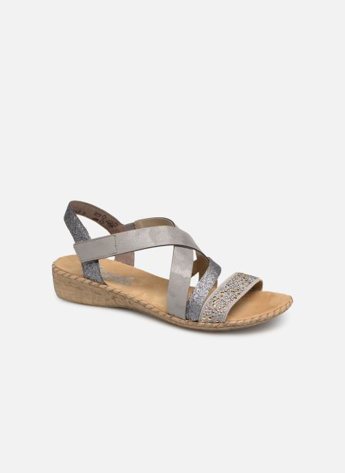 Sandals Rieker Mirana 61663 Grey detailed view/ Pair view