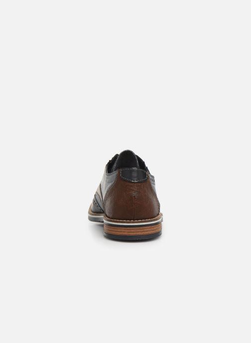 Zapatos con cordones Rieker Tymeo 13520 Azul vista lateral derecha