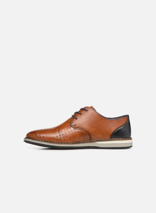 Lace-up shoes Rieker Flavio 16811 Brown front view