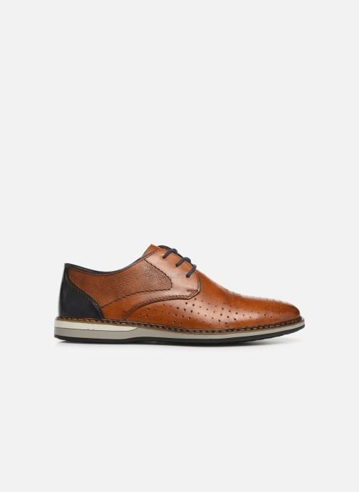 Lace-up shoes Rieker Flavio 16811 Brown back view