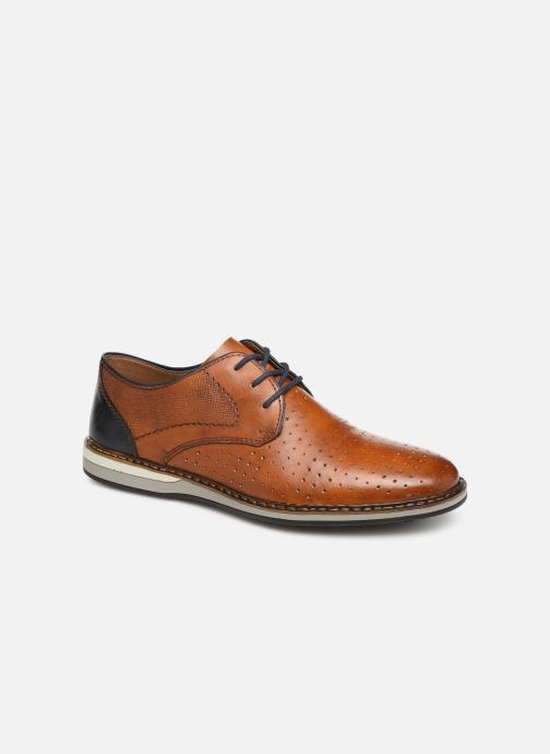 Lace-up shoes Rieker Flavio 16811 Brown detailed view/ Pair view