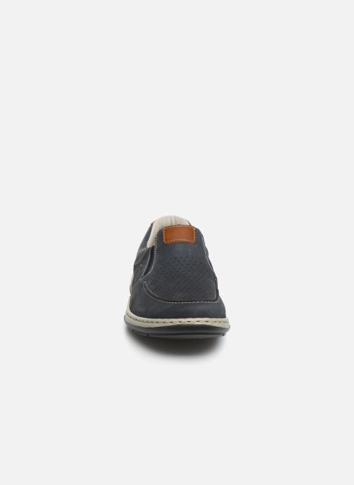 Mocassins Rieker Aubin 17356 Bleu vue portées chaussures
